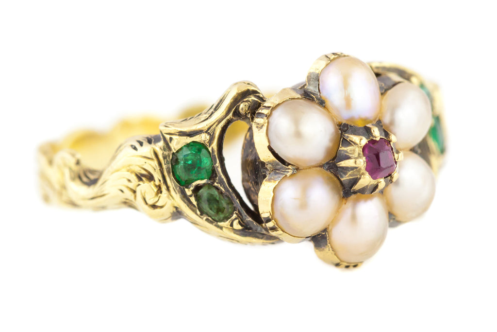 Georgian Pearl Mourning Ring