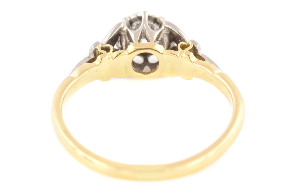 18ct Gold Art Deco Solitaire Diamond Engagement Ring (0.20ct)