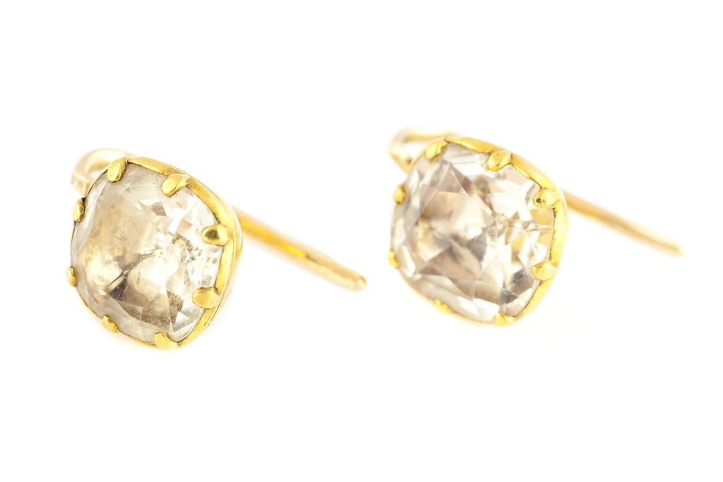 18ct Gold Georgian Paste Earrings