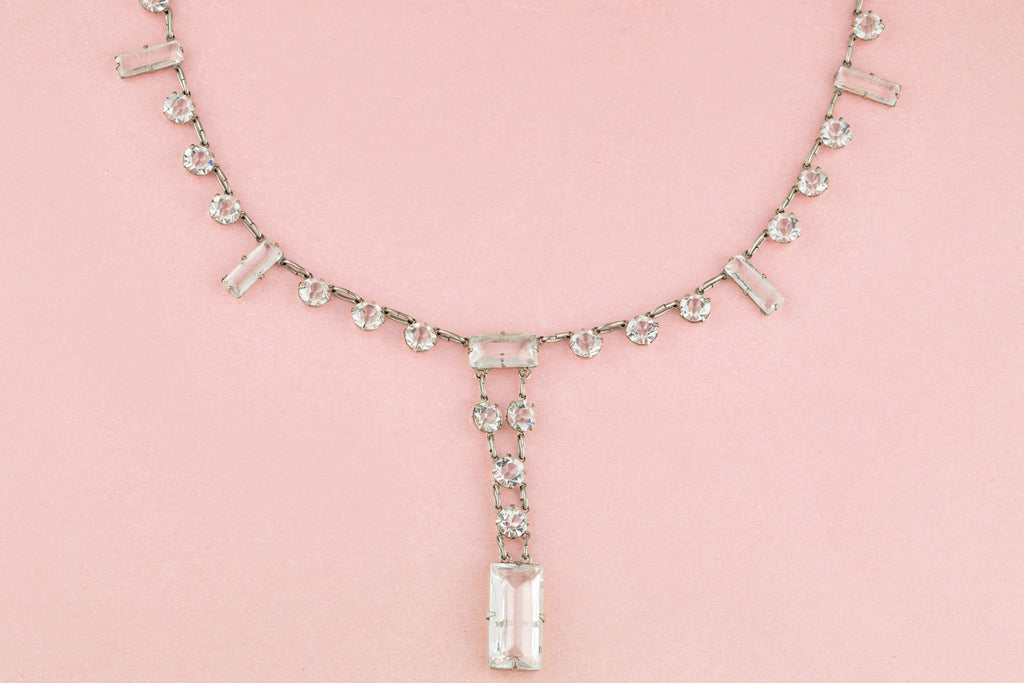 Art Deco Natural Rock Crystal Necklace