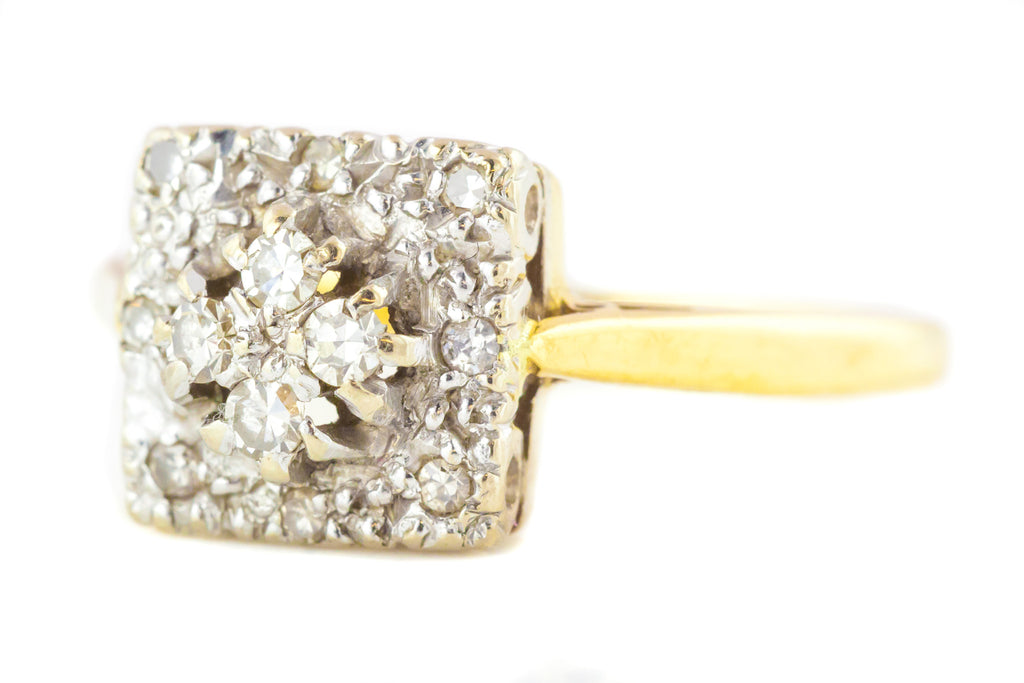 Art Deco 18ct Gold Diamond Ring c.1940