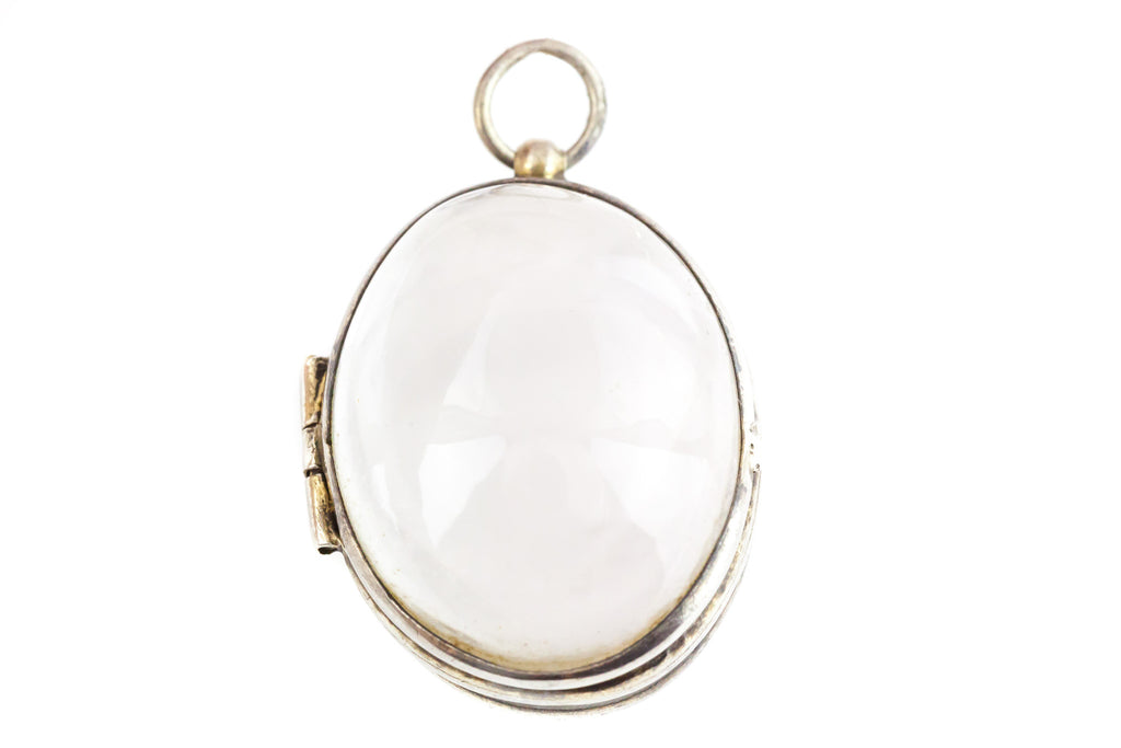 "Antique Rock Crystal ""Pools of Light"" Locket"