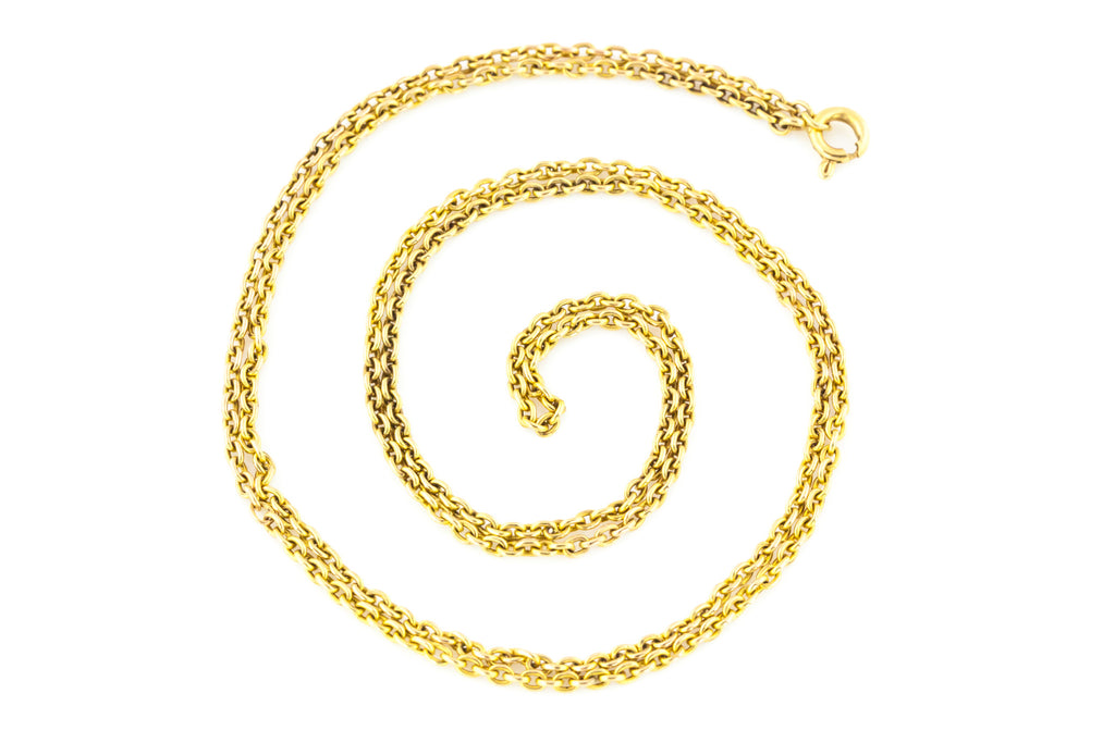 "25.5"" Antique 9ct Yellow Gold Chain (7.5g)"