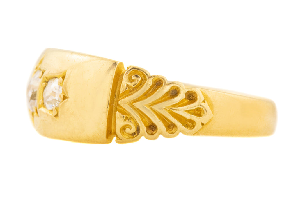 Victorian 18ct Gold Diamond Gypsy Ring (0.20ct) c.1894