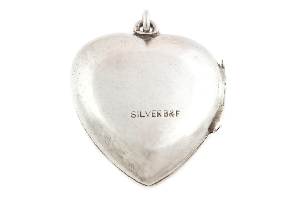 Victorian Silver Heart Locket
