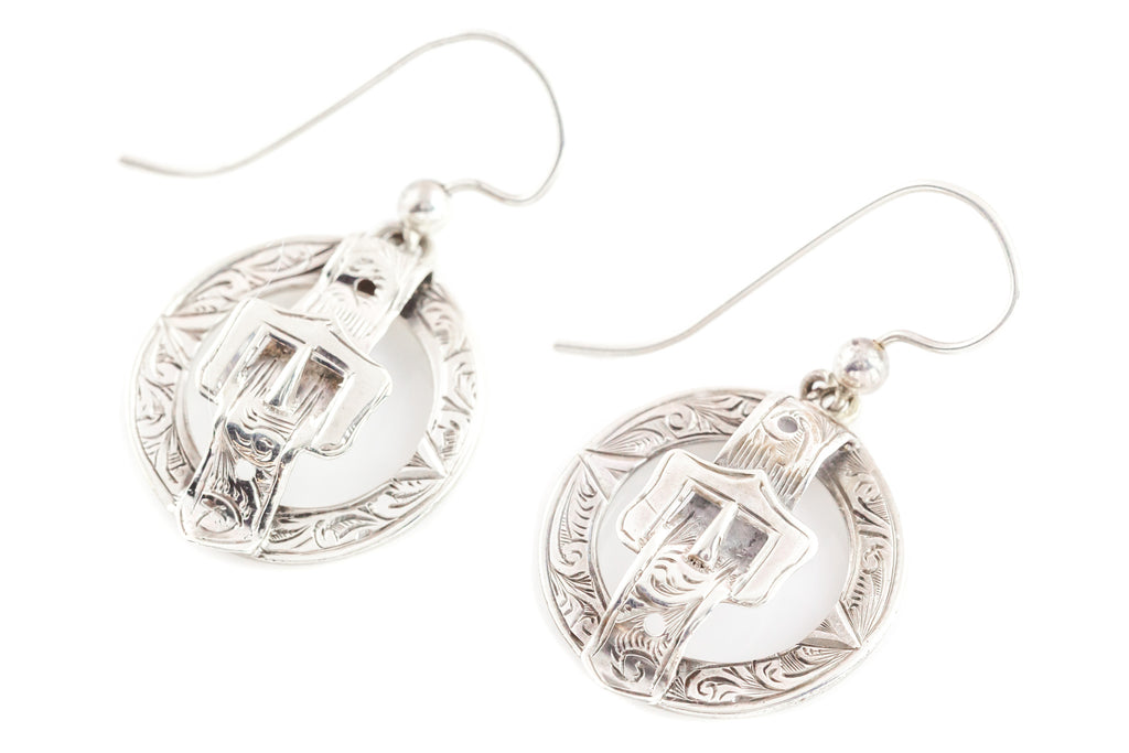 Antique Silver Buckle Earrings