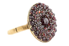 Antique Bohemian Garnet Ring c.1900