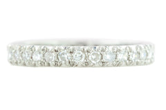 Art Deco Platinum and Diamond Eternity Ring (1ct)