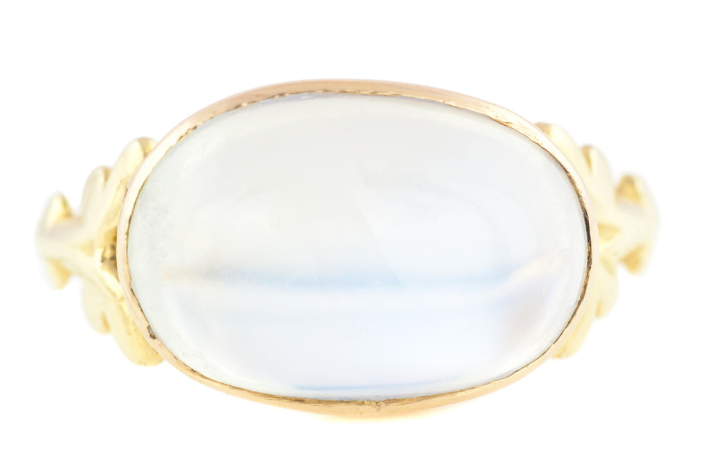 9ct Gold Antique Moonstone Cabochon Ring