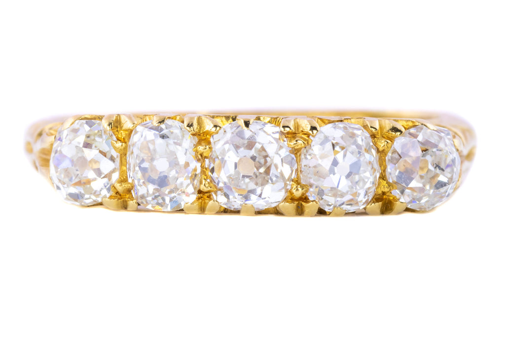 Edwardian Five Stone Diamond Ring c.1906 (1.25ct)