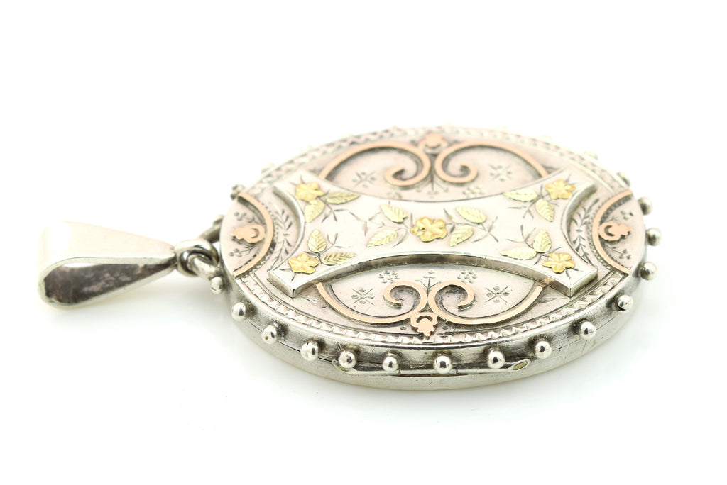 Victorian Aesthetic Locket with 9ct Gold Detail c.1881
