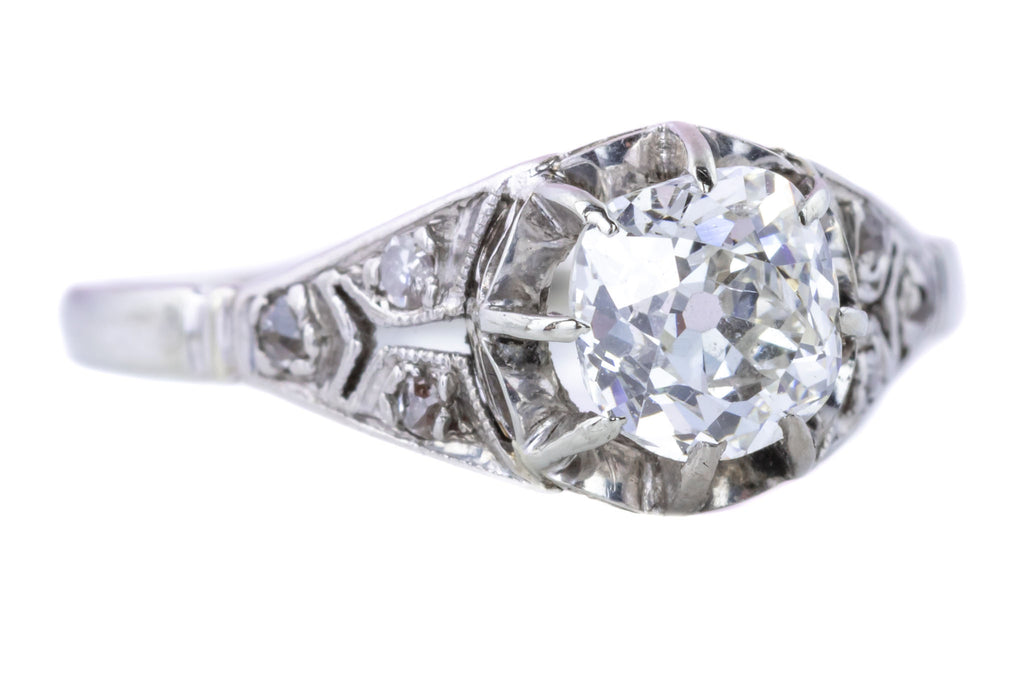 Art Deco Diamond Solitaire Ring (0.87ct)