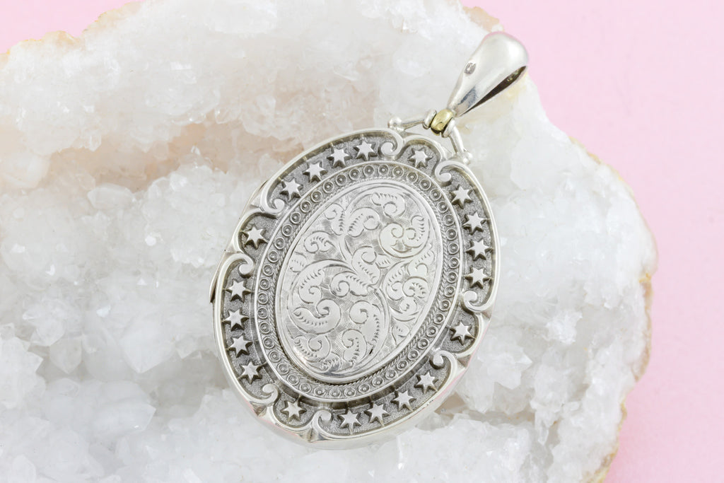 Silver Victorian Aesthetic Locket c.1880