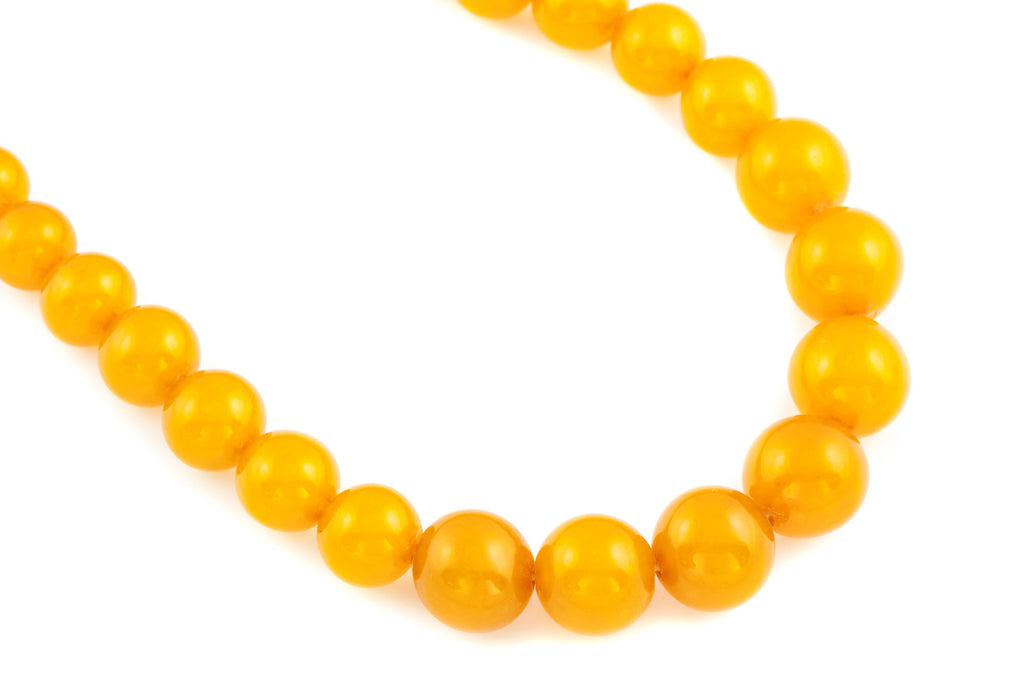 Art Deco Baltic Amber Beaded Necklace c.1930