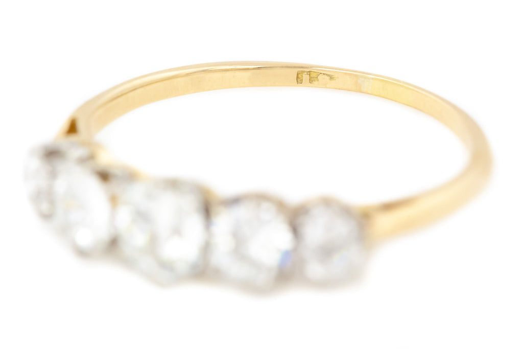 Edwardian 18ct Gold Five Stone Diamond Ring