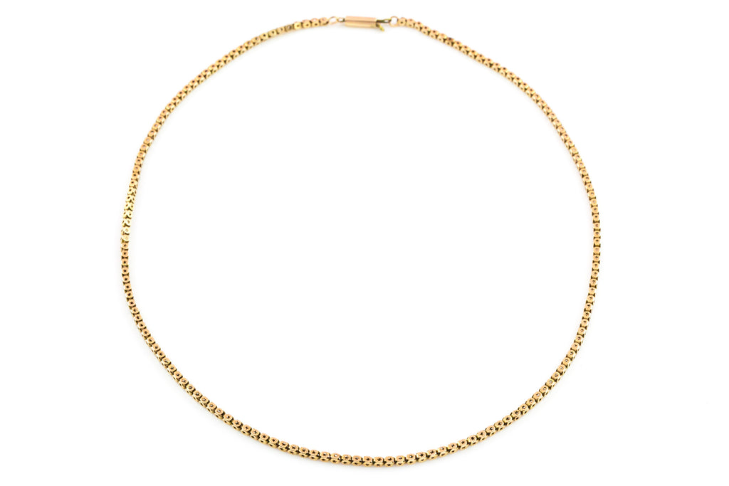 Victorian 9ct Gold Chain Necklace