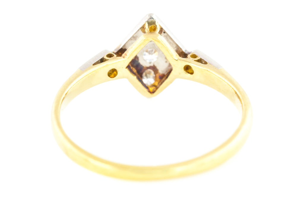 Art Deco Diamond Ring in 18ct Gold and Platinum