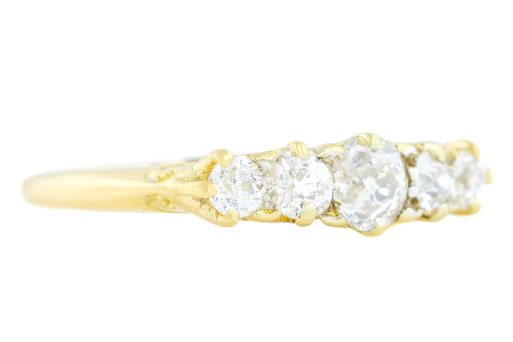 Antique Five Stone Diamond ring (0.86ct)