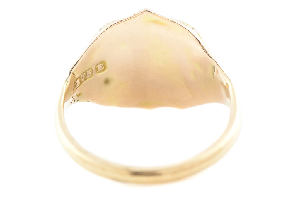 9ct Gold Antique Carnelian Signet Ring c.1850