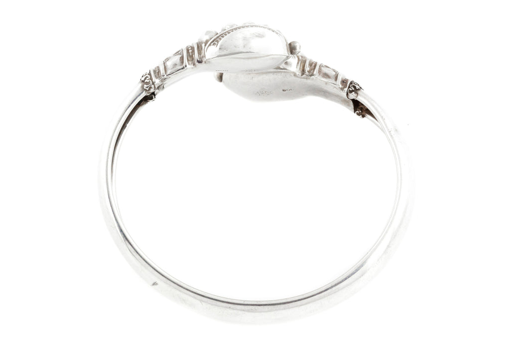 Victorian Silver Serpent Twist Bangle
