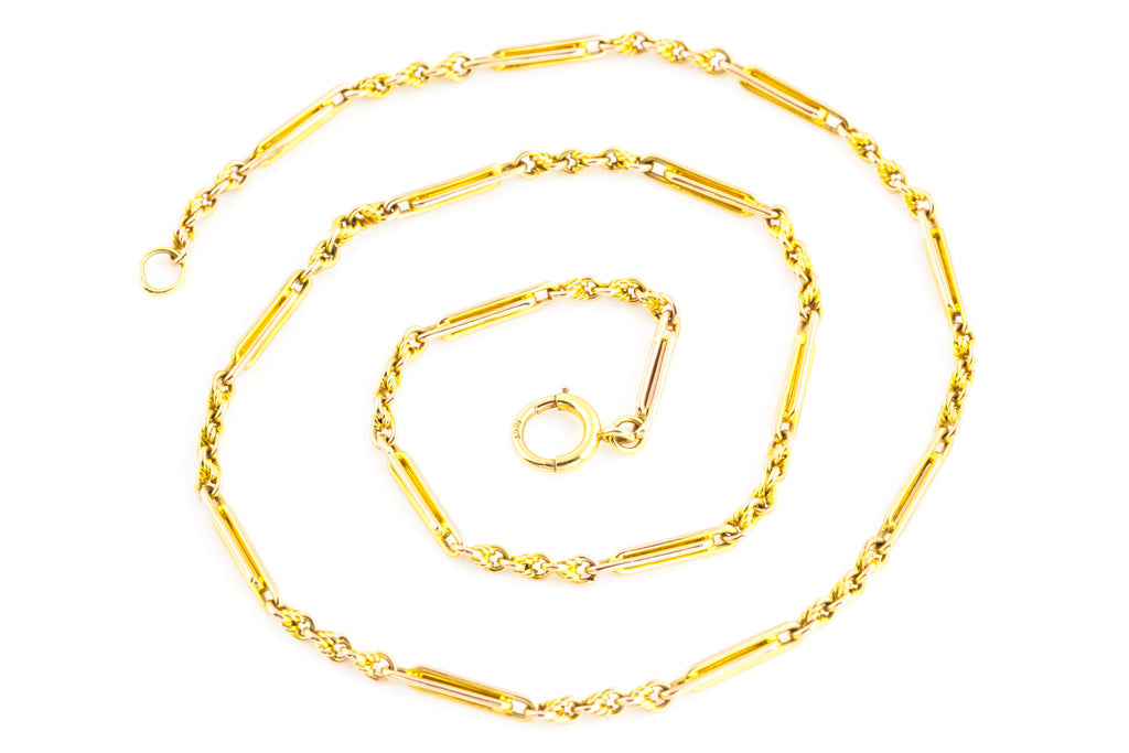 Victorian 15ct Gold Necklace Chain