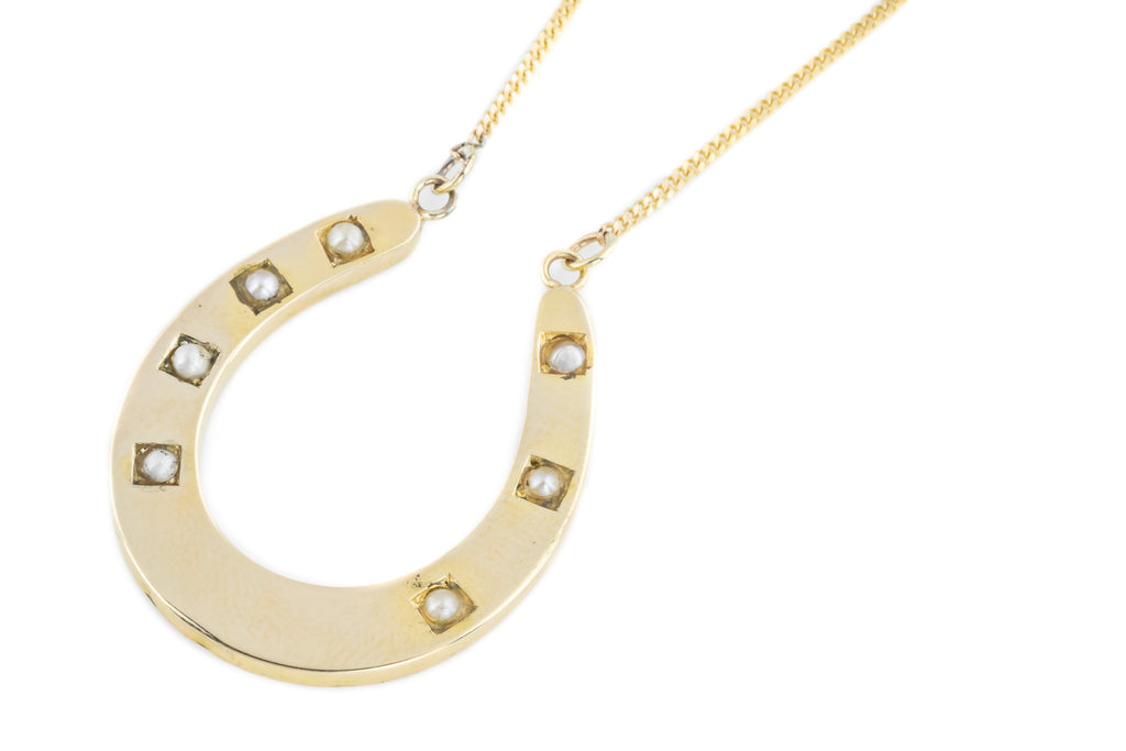 Victorian Horseshoe Pendant in 14ct Gold