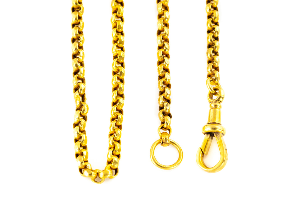 Victorian Long Guard Chain Necklace 60""