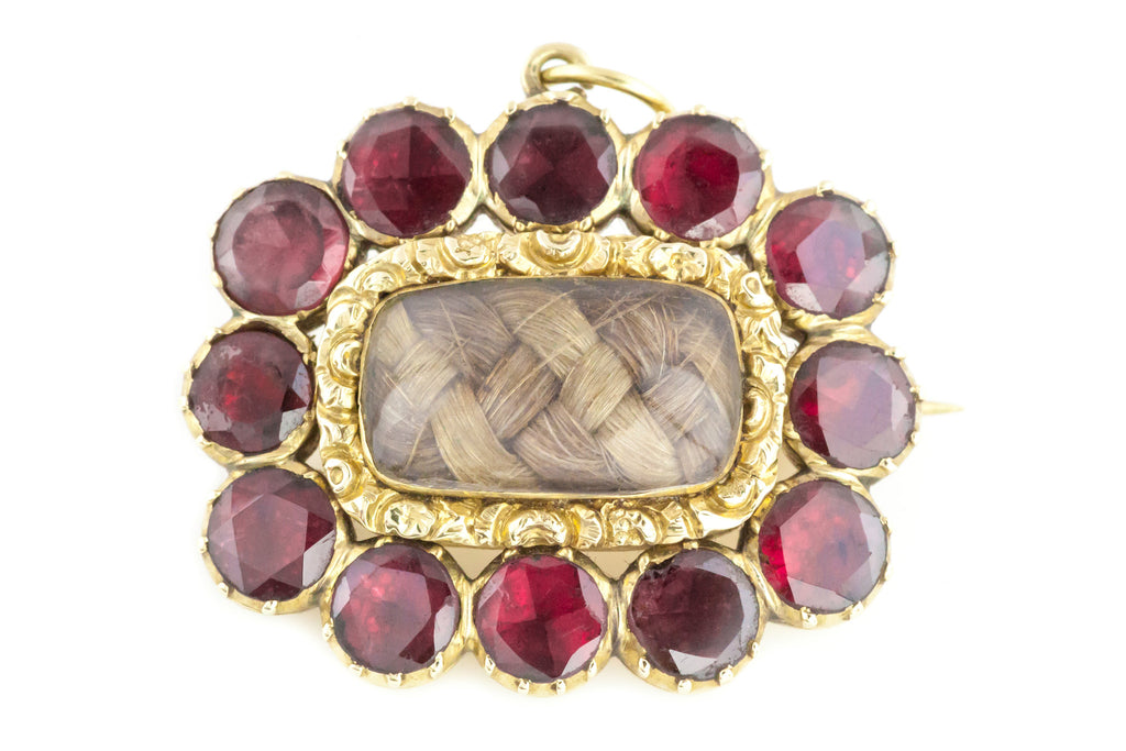 9ct Gold Georgian Garnet Brooch c.1800