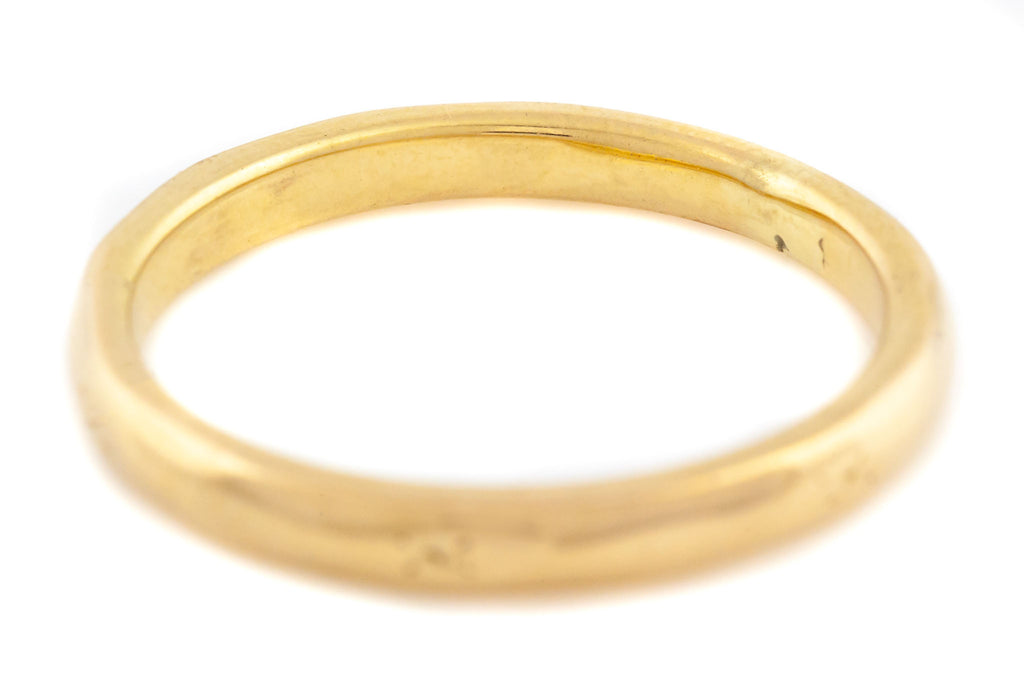 Art Deco 18ct Gold Wedding Band Ring