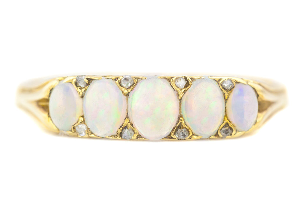 Victorian Five Stone Opal Ring