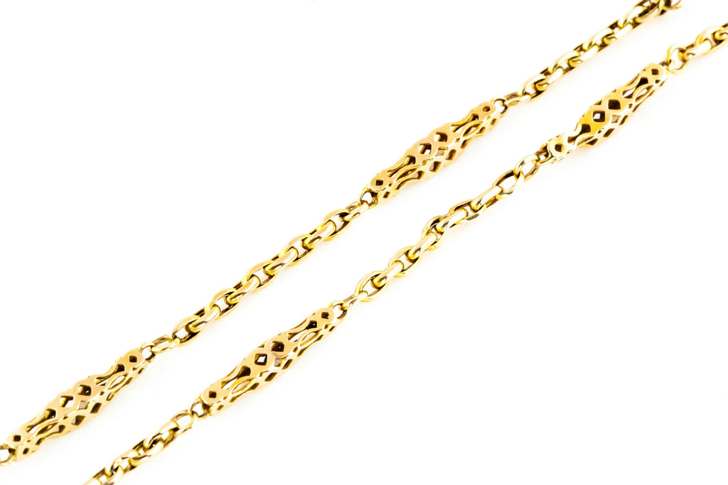 Antique Victorian 9ct Gold Chain with Fancy Links 16.5""
