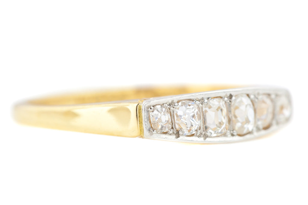 Art Deco Six Stone Diamond Ring (0.65ct)