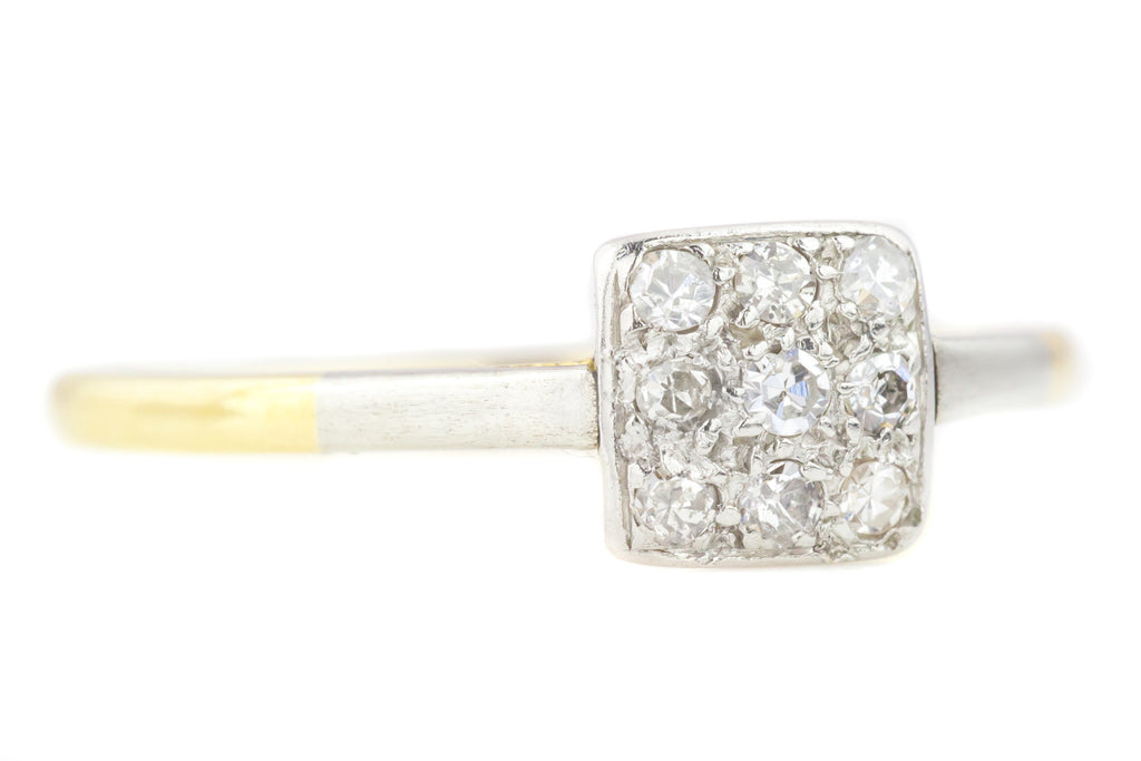 Art Deco Square Diamond Cluster Ring (0.20ct)