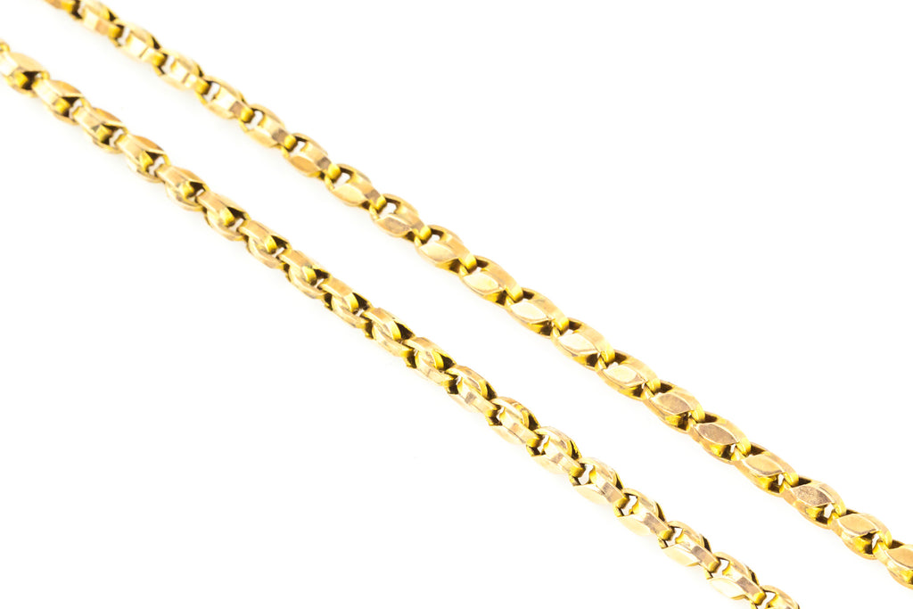 Antique 9ct Gold Chain Necklace 17.7""
