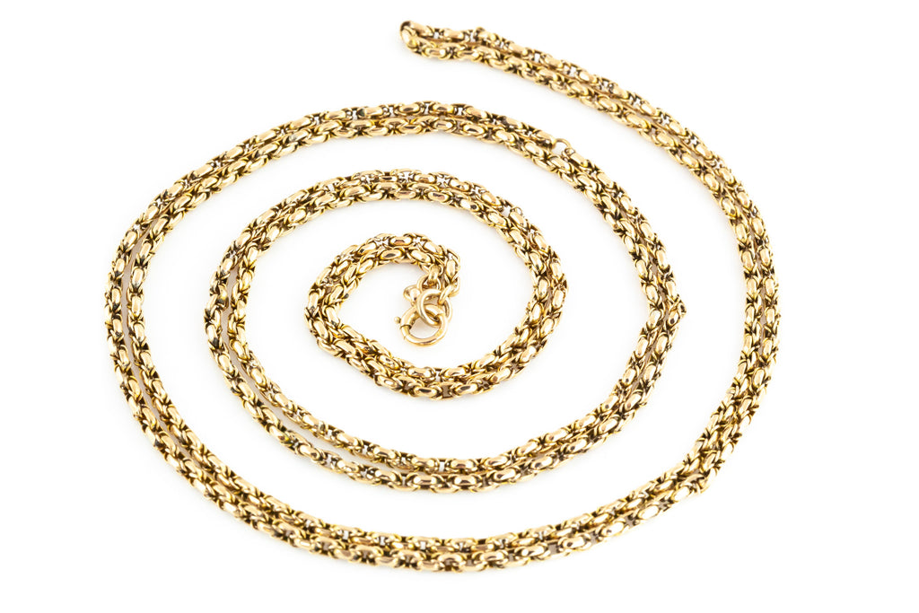 Antique 9ct Gold Chain Necklace, 51""