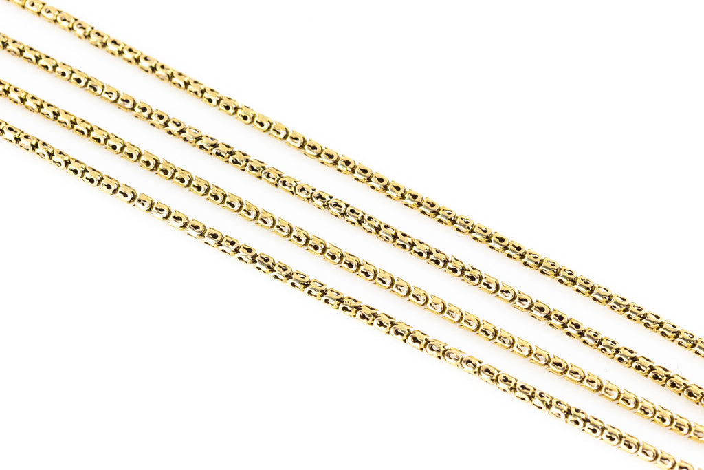 9ct Gold Victorian Guard Chain Necklace 64""