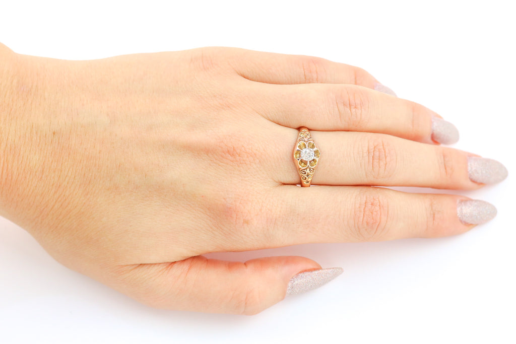 Antique Victorian Solitaire Diamond Ring (0.35ct)