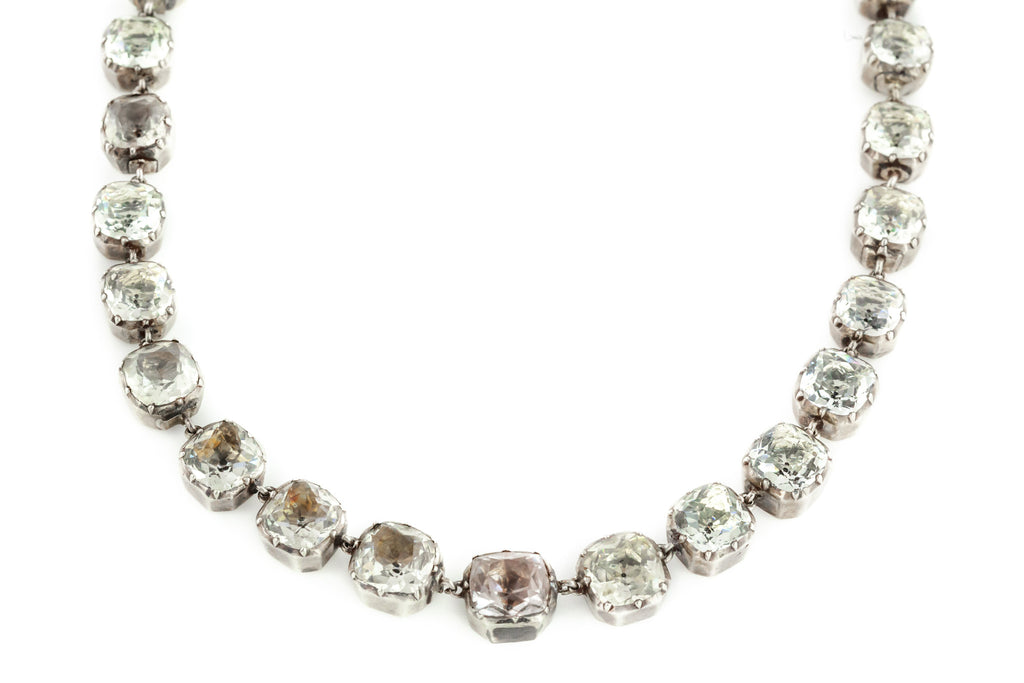 Georgian Rock Crystal Rivière Necklace c.1750