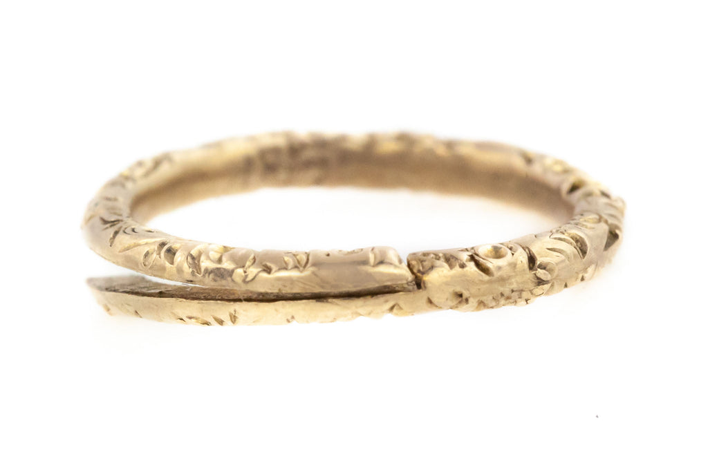 Georgian Split Ring in Solid 9ct Gold