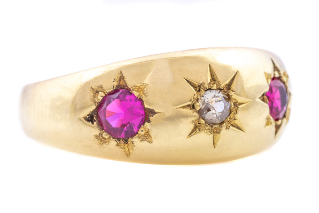 Victorian Diamond and Ruby Trilogy Ring c.1876