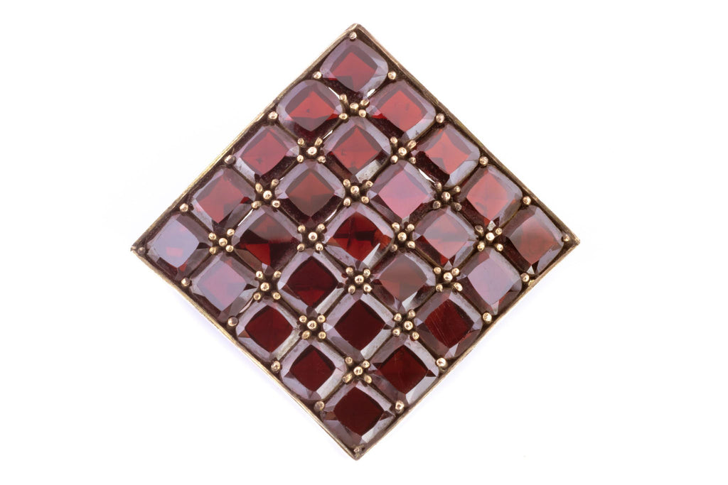 Art Deco Garnet Brooch