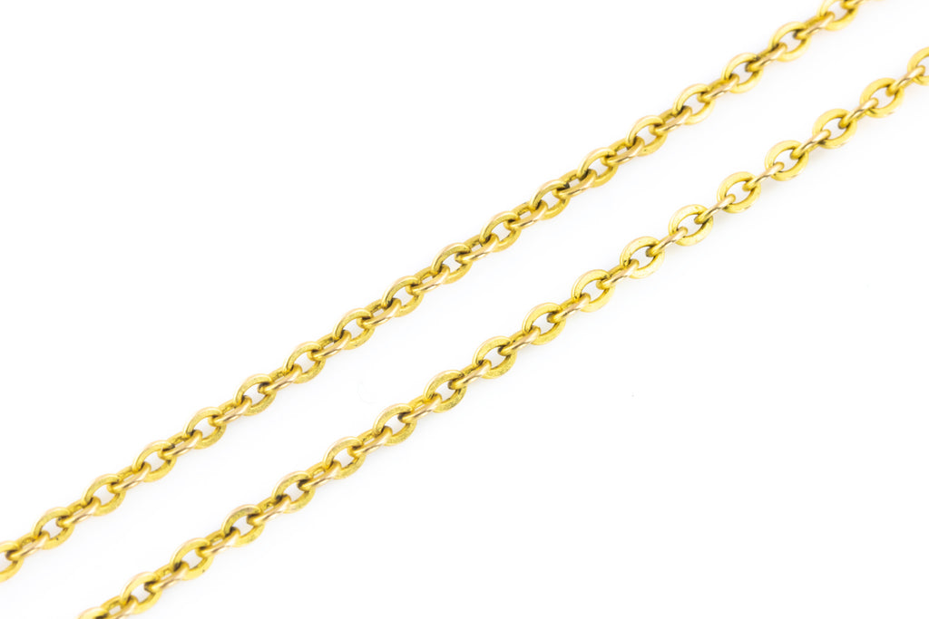 Antique 9ct Gold Trace Chain Necklace c.1900