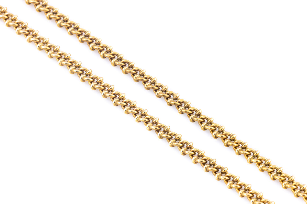 Victorian 9ct Gold Chain with Fancy Links, 18""