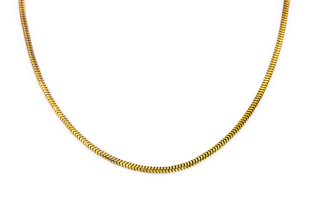 "Victorian 18ct Gold Snake Chain Necklace c.1900 - 21"" (8.8g)"