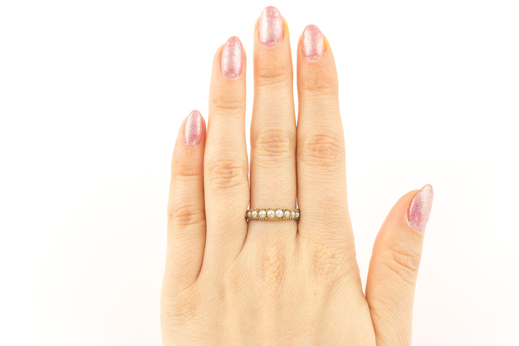 Georgian 15ct Gold and Pearl Ring