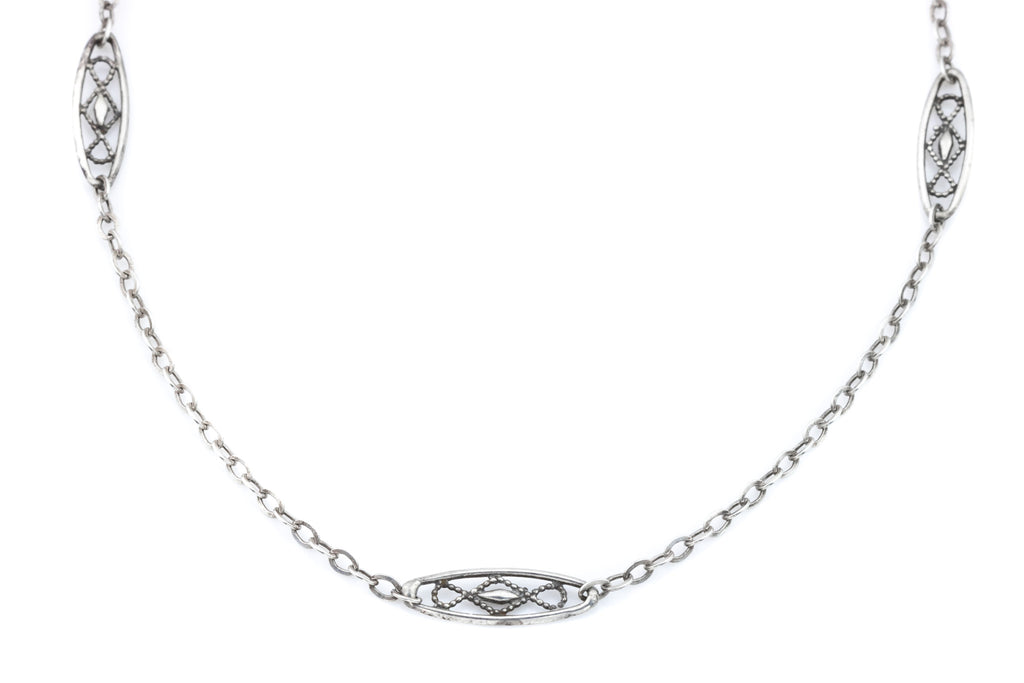 Arts & Crafts Sterling Silver Chain Necklace c.1900