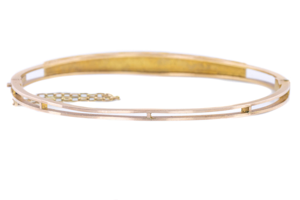 Antique 9ct Gold Pearl Bangle