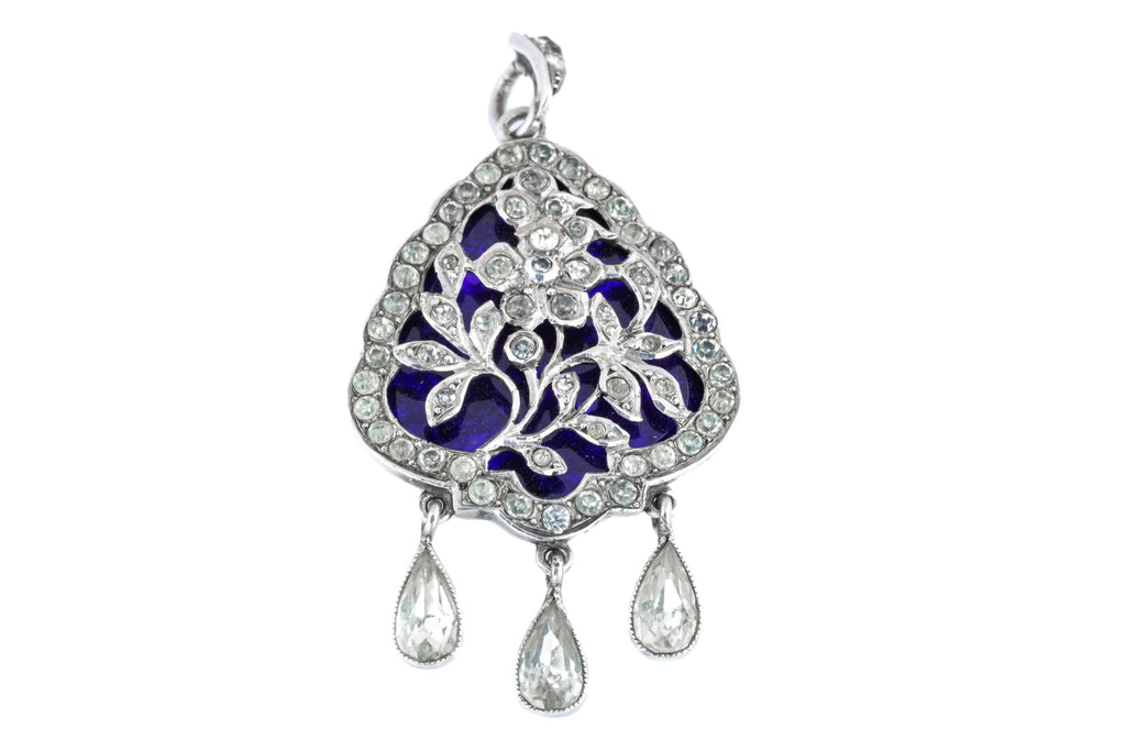Edwardian Silver and Paste Pendant