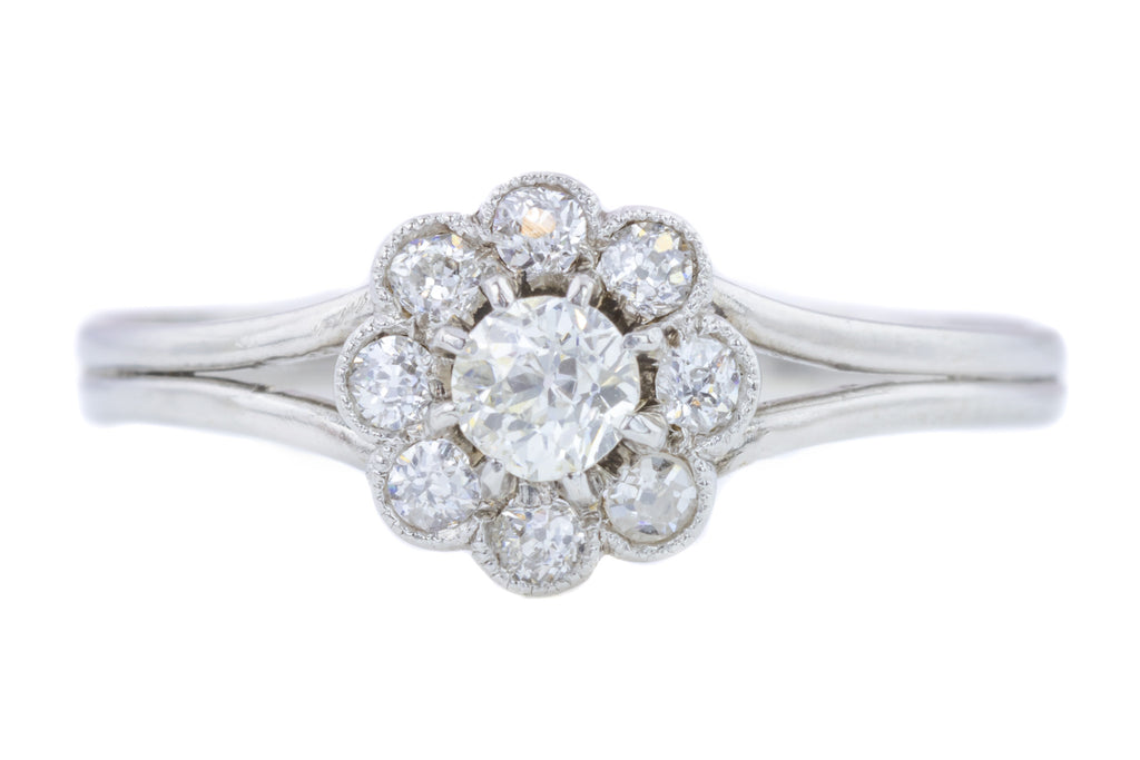 Edwardian Diamond Cluster Ring (0.6ct)