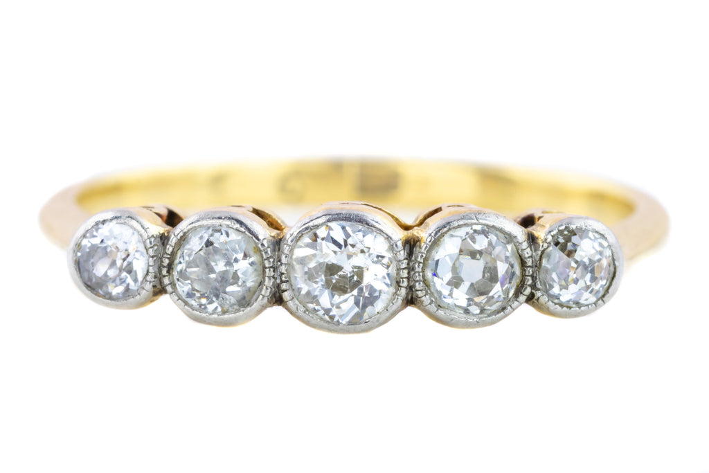 Art Deco Five Stone Diamond Ring (0.56ct)